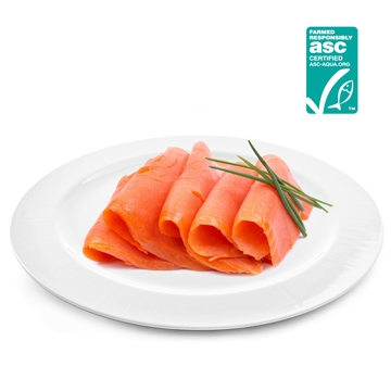 有ASC荷蘭煙燻鮭魚切片